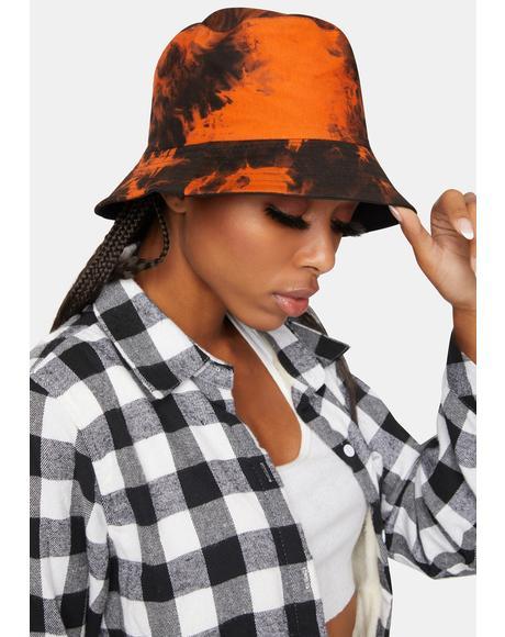 Crush Always Crashin' Tie Dye Bucket Hat