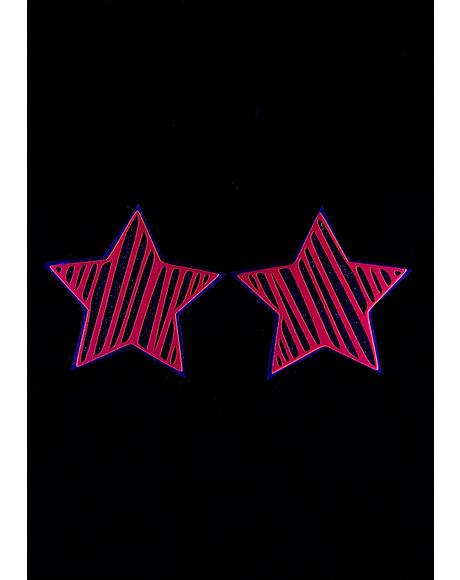 Juiced Reflective Star Slash Pasties