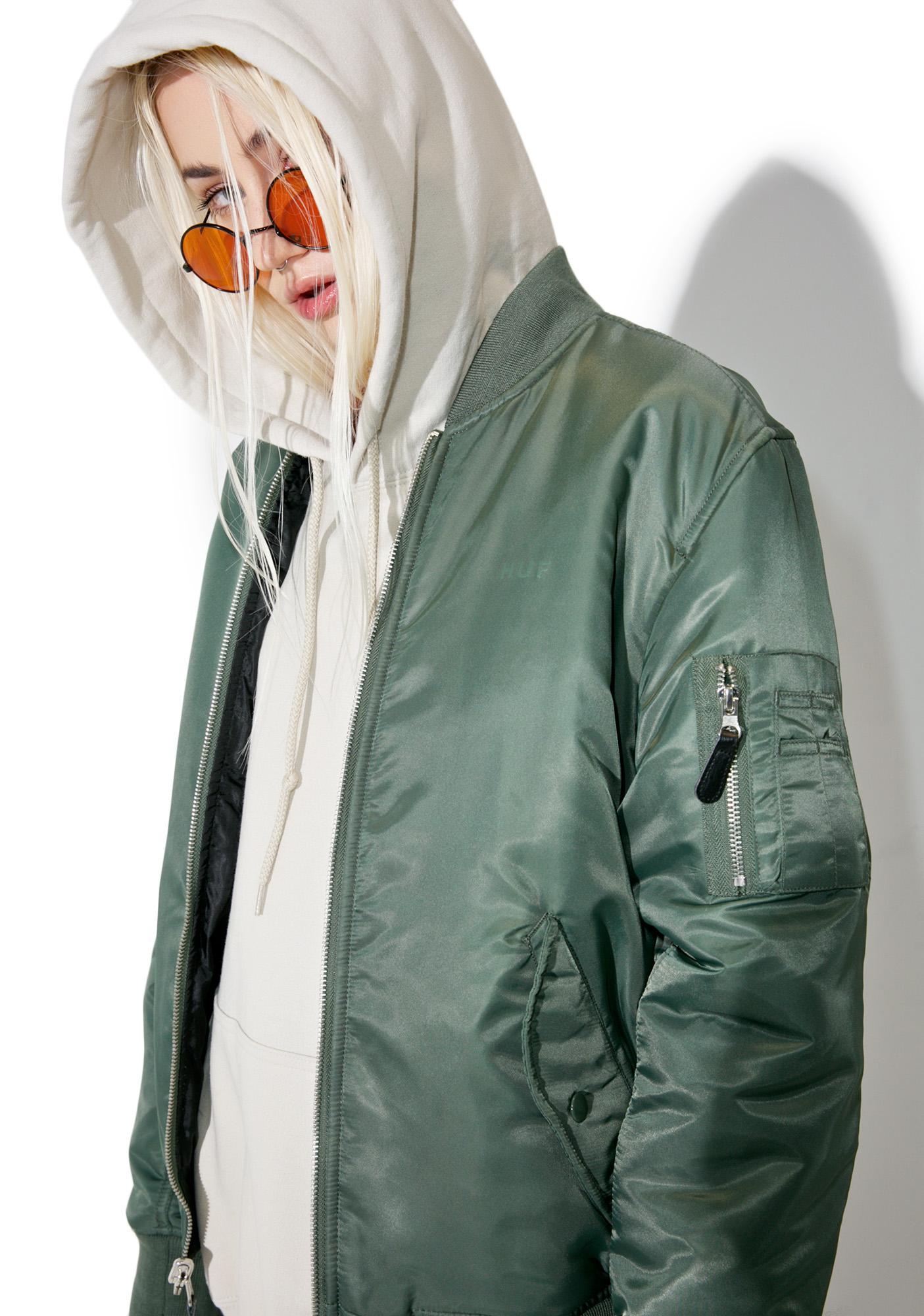 hot sale united states fantastic savings HUF Elite Reversible MA-1 Jacket   Dolls Kill