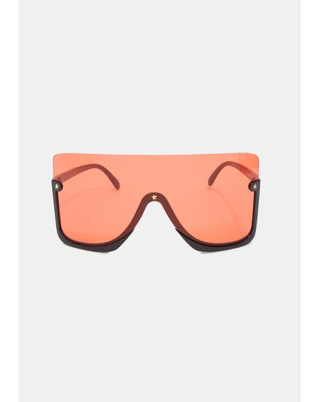 Hot Broken Promises Oversized Sunglasses