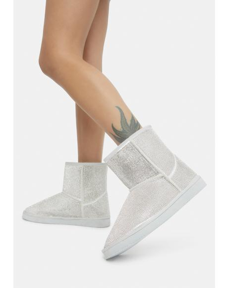 Silver Shining Steps Boots