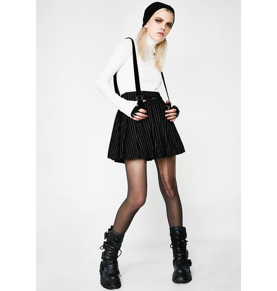 Punk Rave Punk Stripe Pleated Skirt