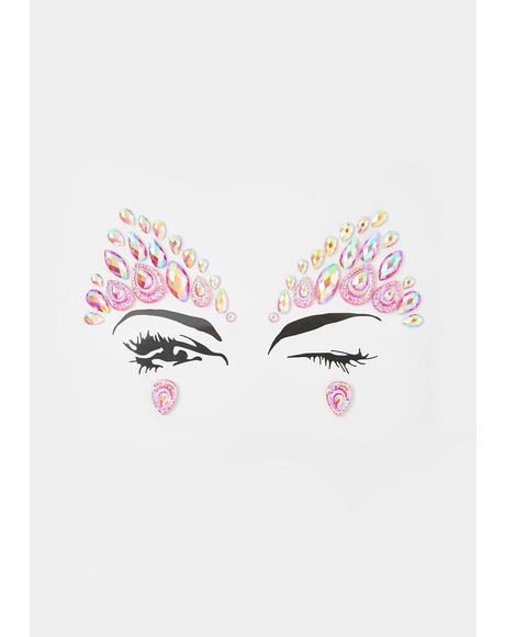 Pink Haze Face Jewel