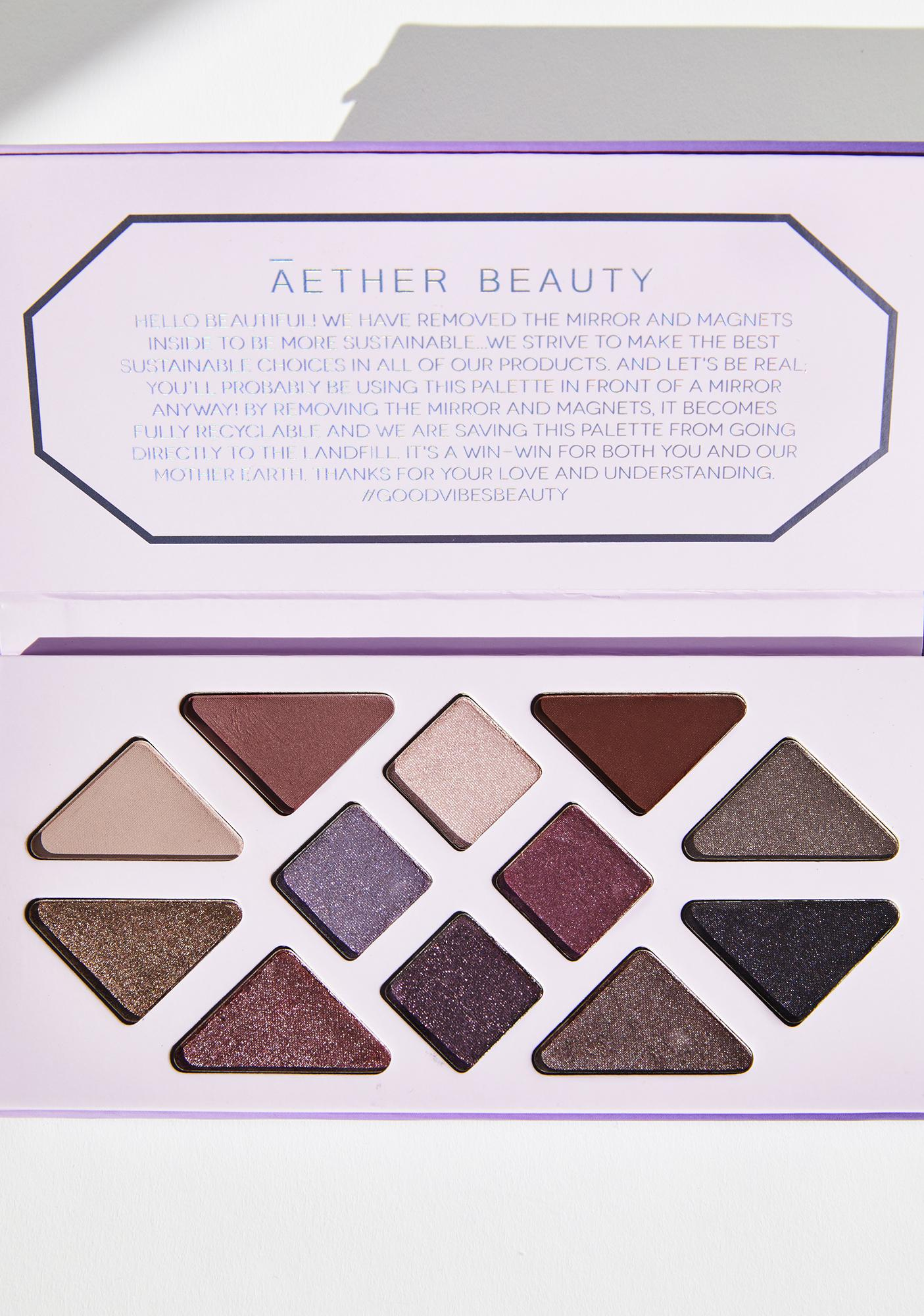 Aether Beauty Amethyst Crystal Charged Eyeshadow Palette