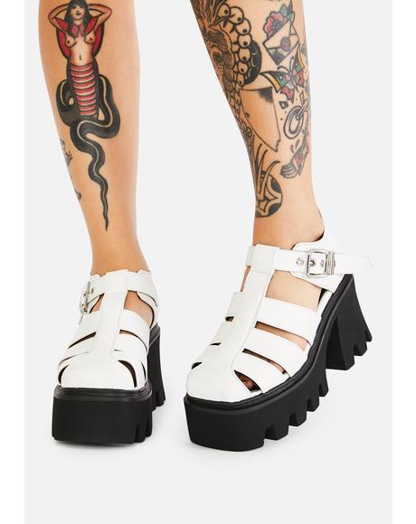 Acting Shy Platform Sandals
