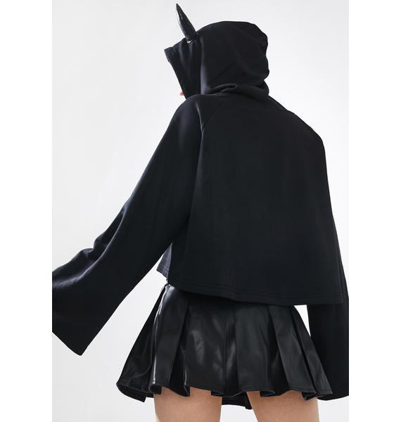 Punk Rave Hot Goth Pleated Skirt