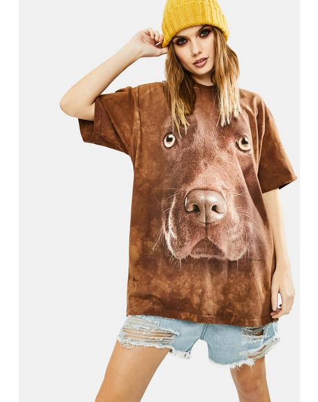 Chocolate Lab Face Graphic Tee