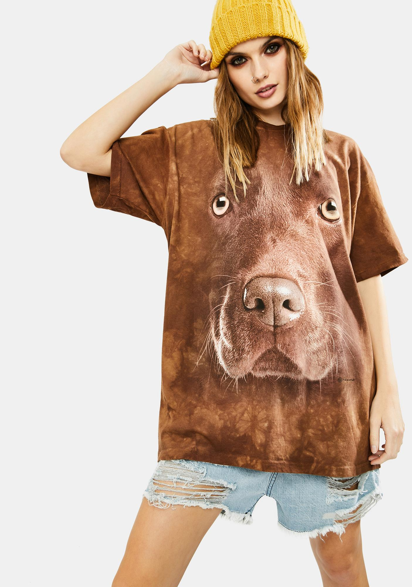 The Mountain Chocolate Lab Face Graphic Tee