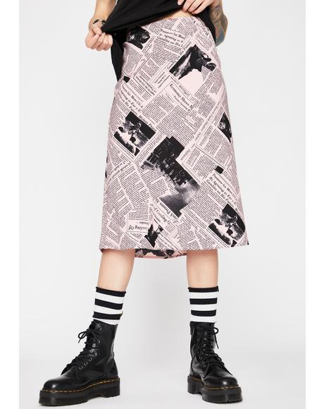 Sweetie You've Been Read Midi Skirt