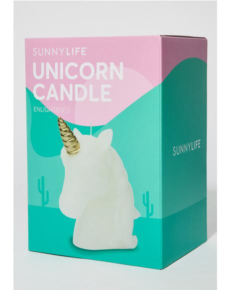 Medium Unicorn Candle