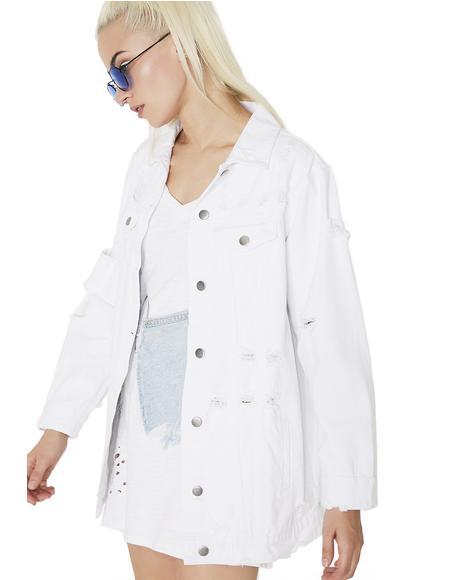 Pristine Fiend Distressed Denim Jacket