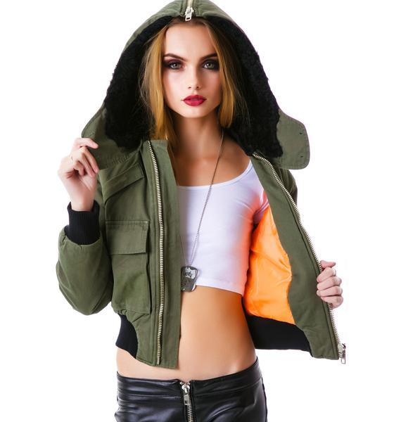 UNIF Trench Bomber Jacket