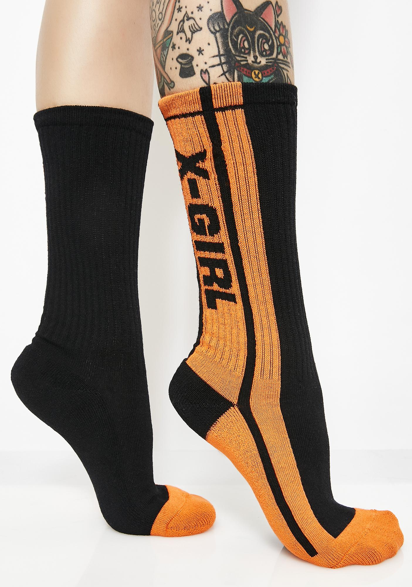x-Girl Midnight Pit Crew Socks