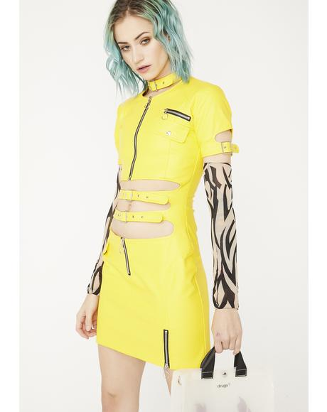 Faster Pussycat Vegan Leather Dress