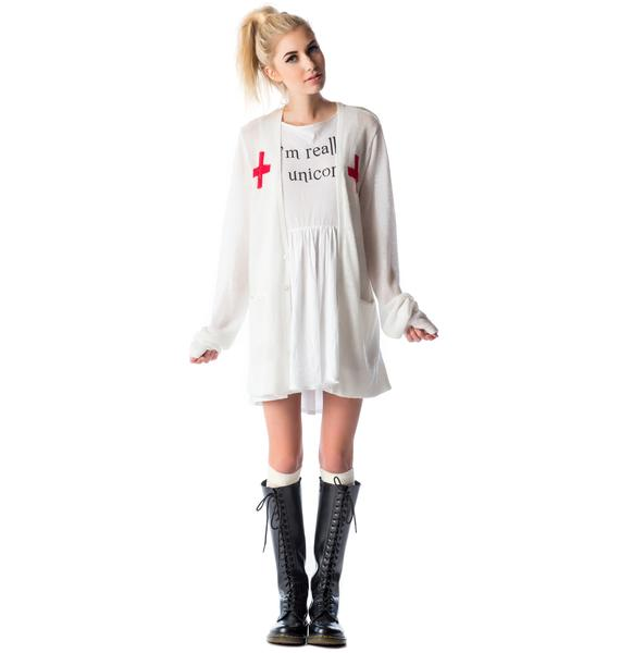 Wildfox Couture Love Saves Lives Perfect Cardi