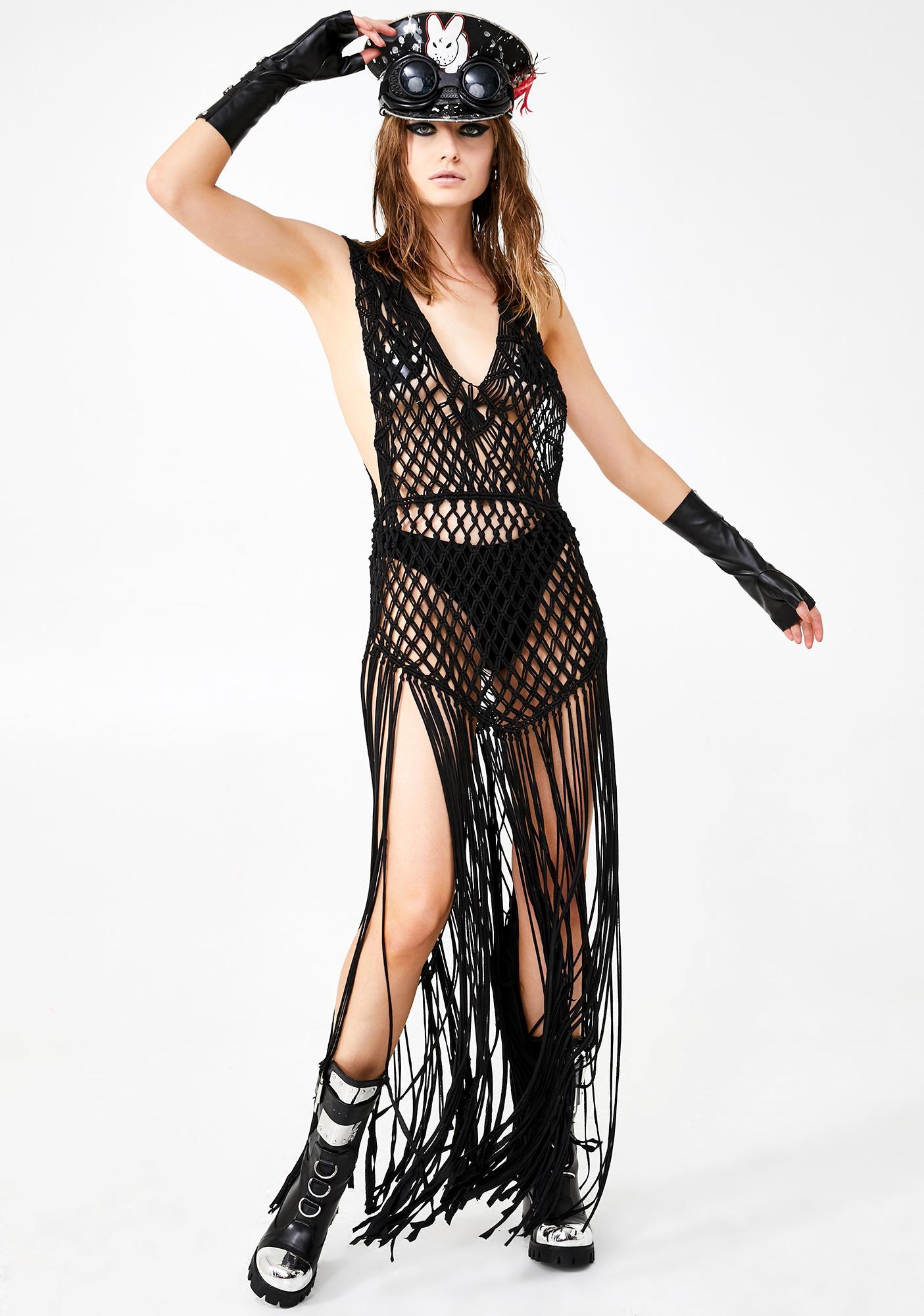 Club Exx Poetic Muse Crochet Dress