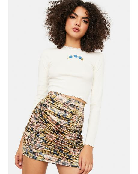 Gigi Mini Printed Skirt