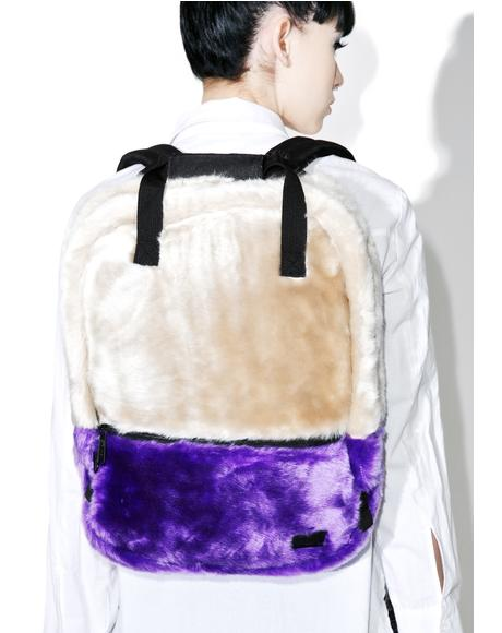 Faux Fur Nude OG Backpack