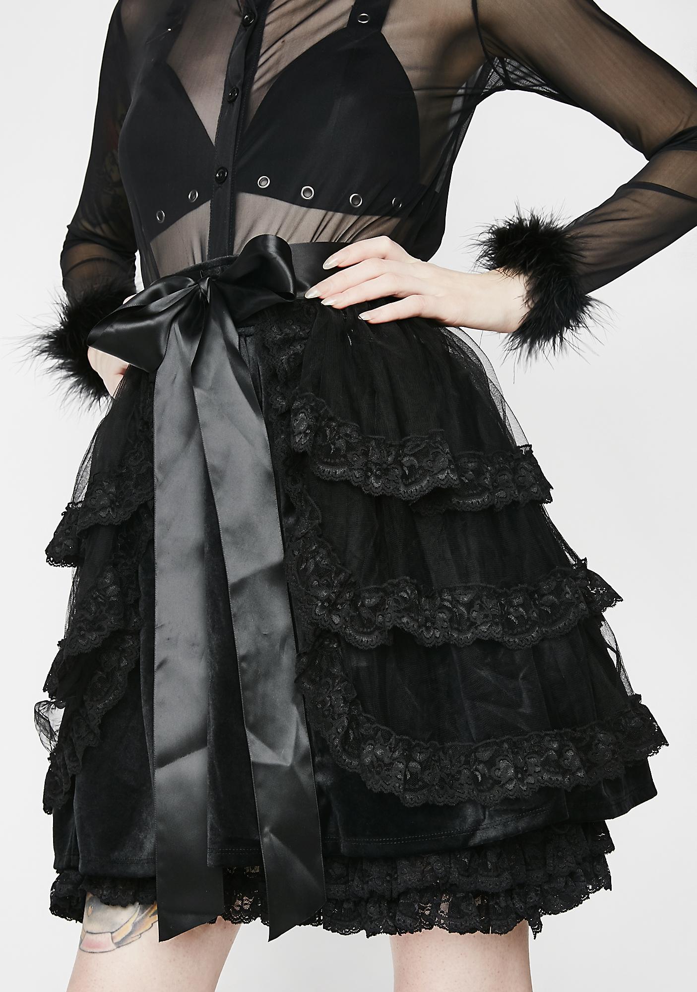 Killstar Graced Bustle Skirt