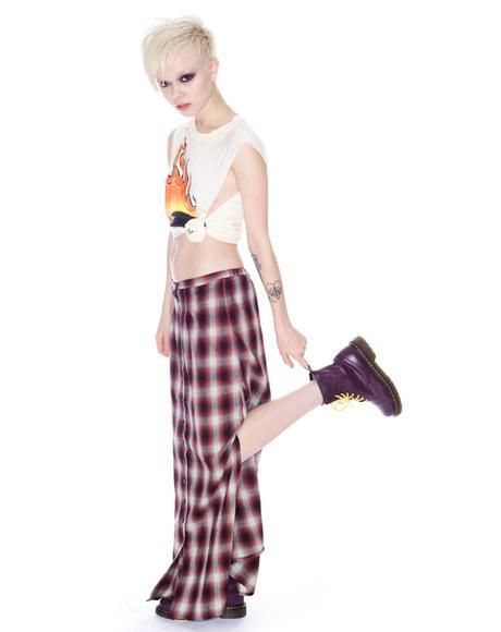 Nevermind Plaid Skirt