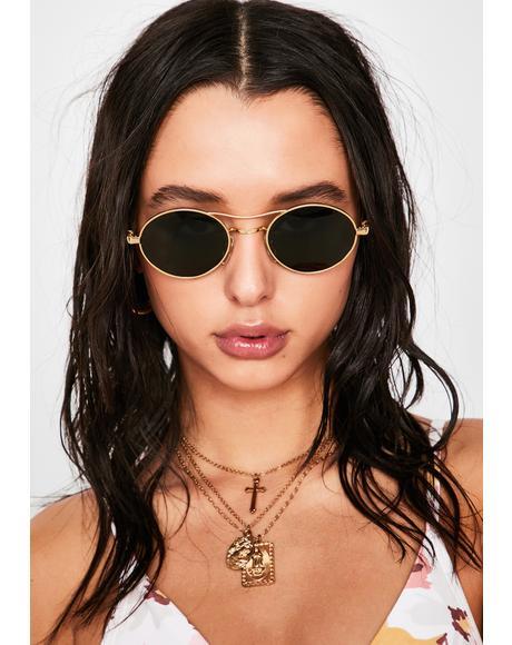 Voyager Gold Frame Sunglasses