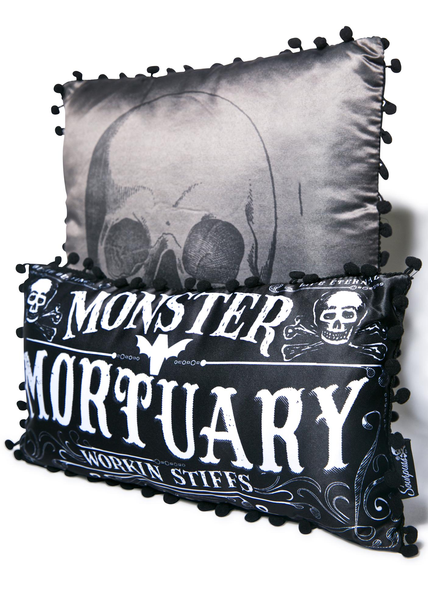 Sourpuss Clothing Monster Mortuary Throw Pillow