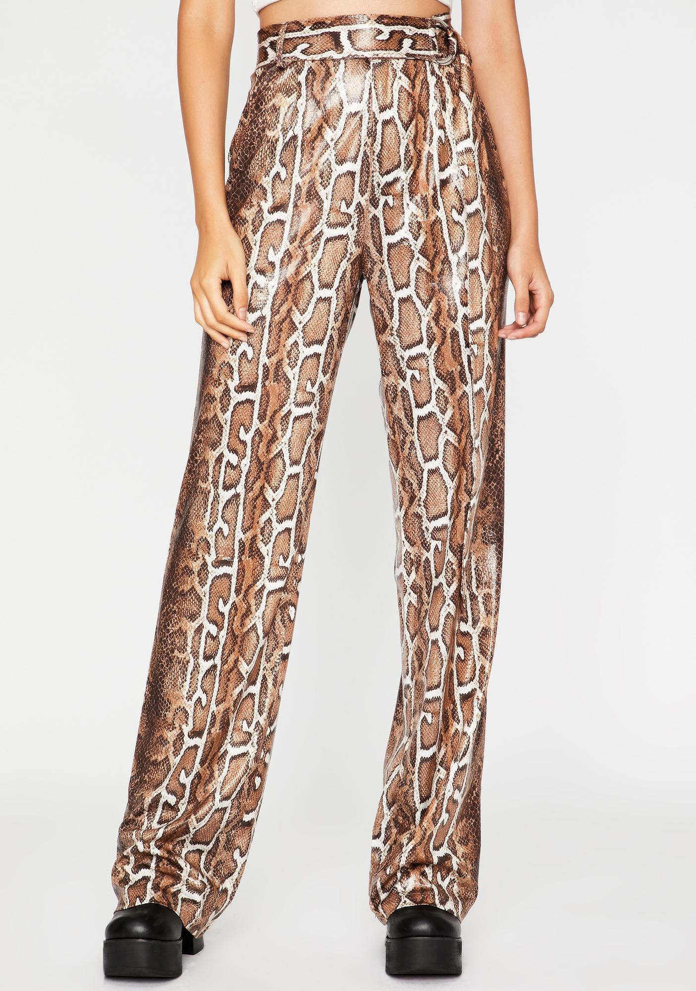 Wild Affair Snake Print Pants