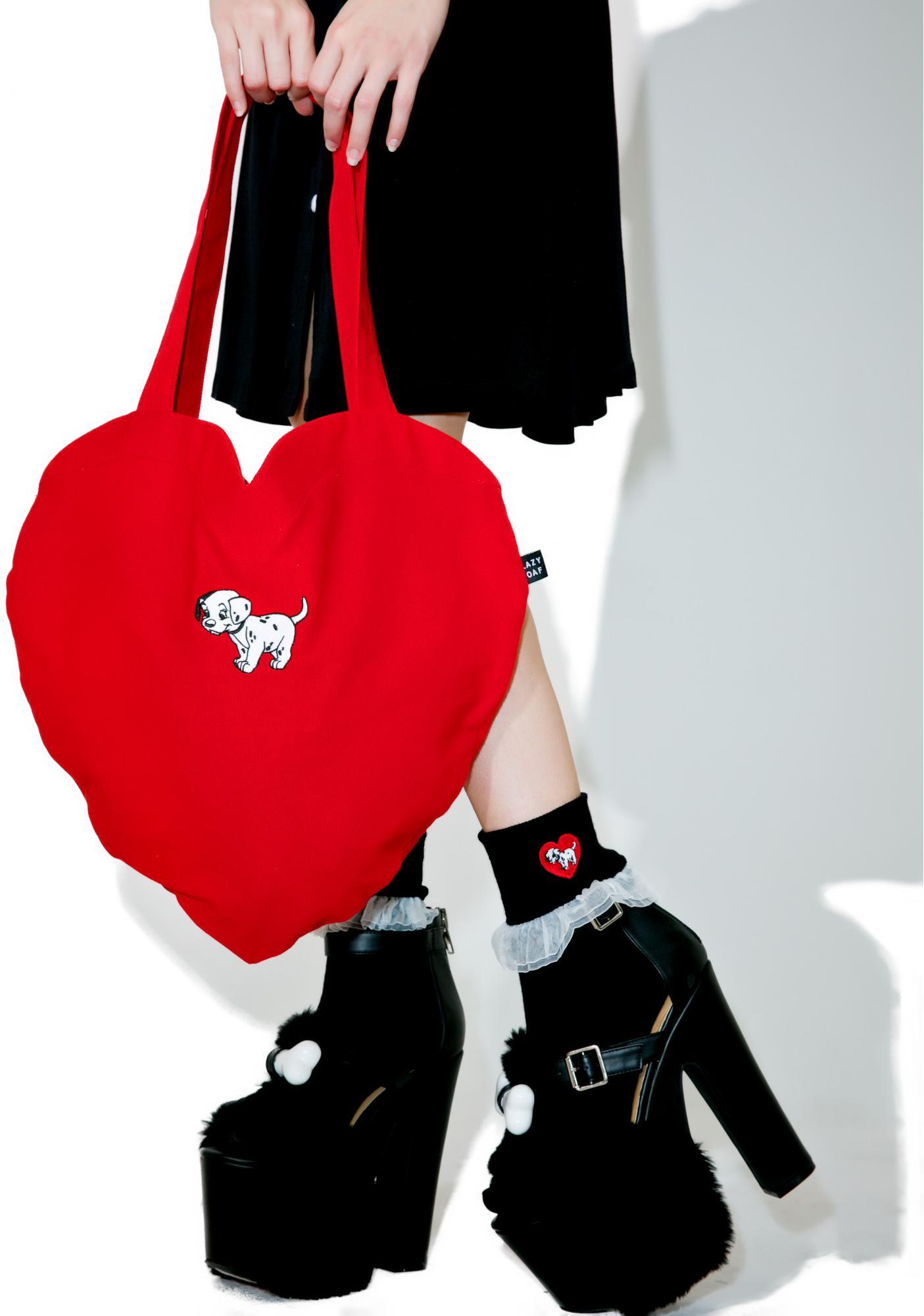 Lazy Oaf X Disney 101 Dalmatians Heart Bag