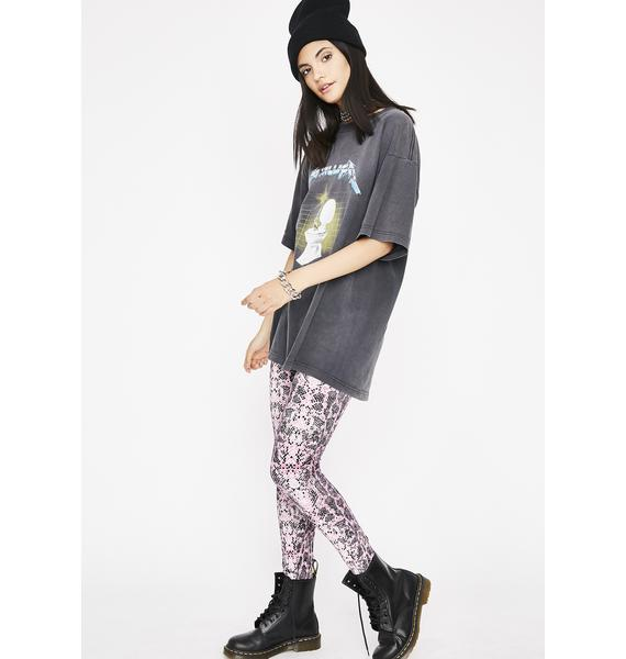 Painful Strike Snakeskin Leggings