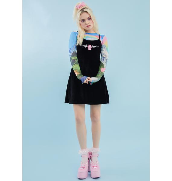 Dolls Kill x Care Bears Dare To Care Velour Dress