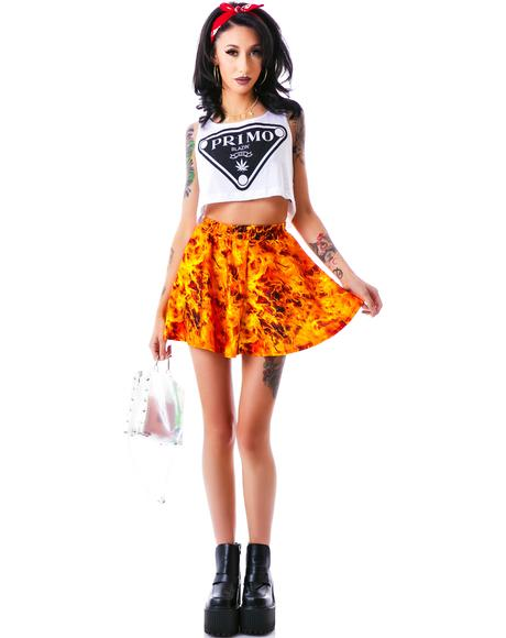Burning Man Skater Skirt