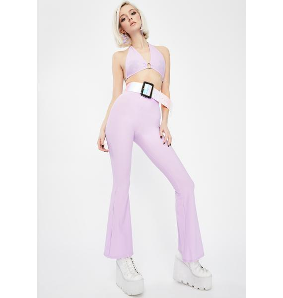 Babydol Clothing Lilac Chain Flared Pants