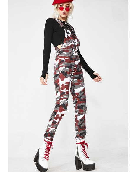 Bloody Baddie Potential Camo Overalls