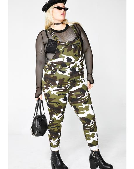 Limitless Baddie Potential Camo Overalls