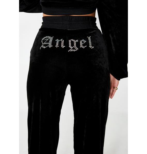 Motel Angel Diamante Wide Leg Joggers