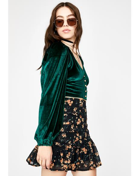 Emerald Bellamy Long Sleeve Top