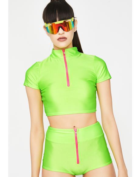 Lime Ultrasonic Surge Shorts Set