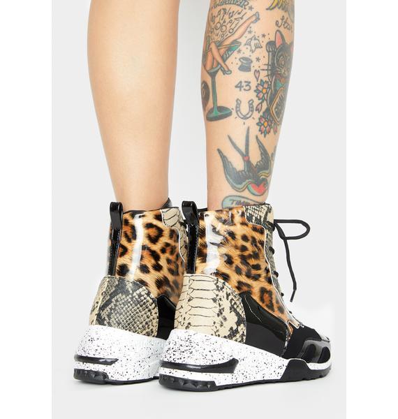 Feisty Galore Platform Sneakers