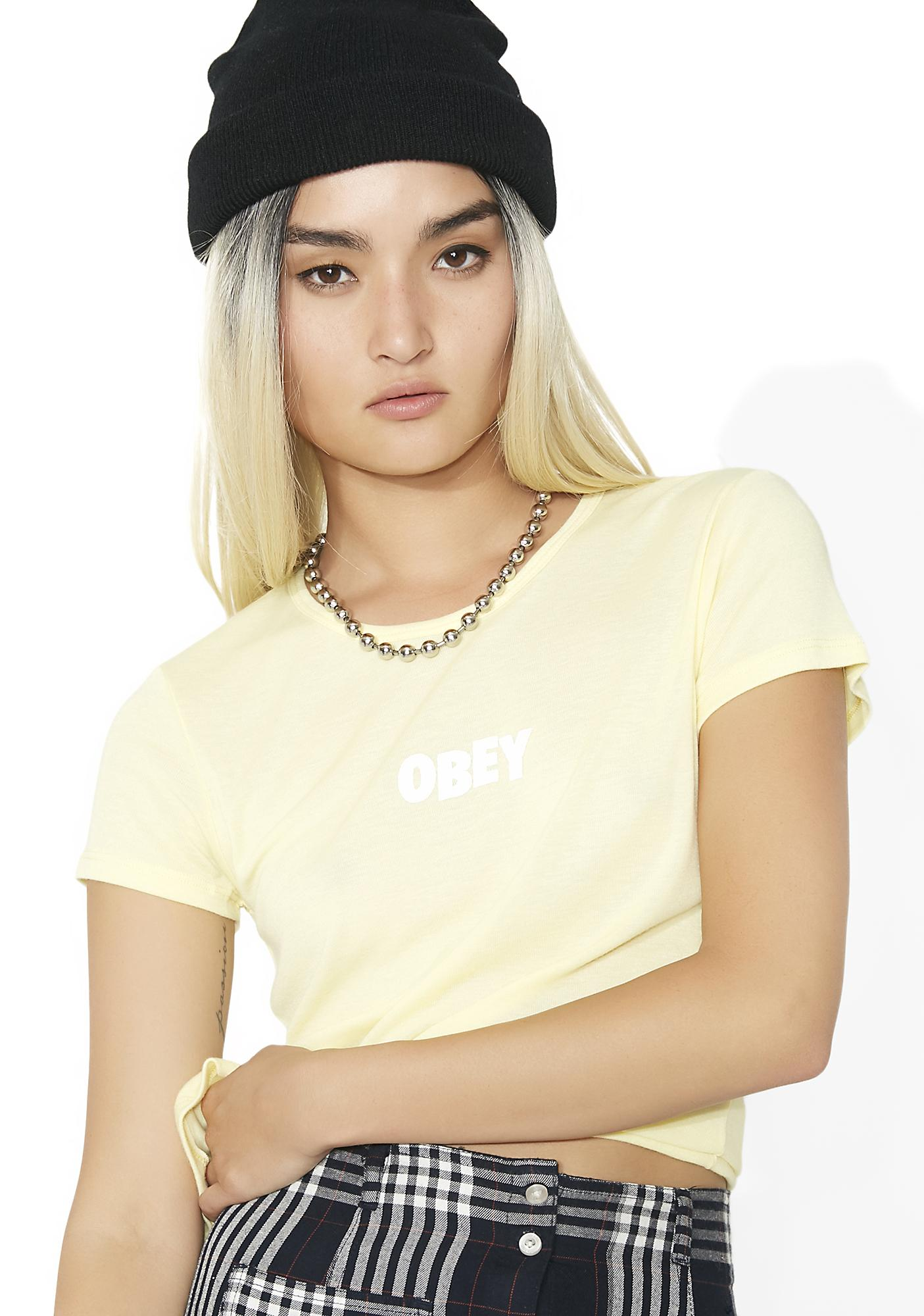 Obey Jumble Bar Babydoll Tee