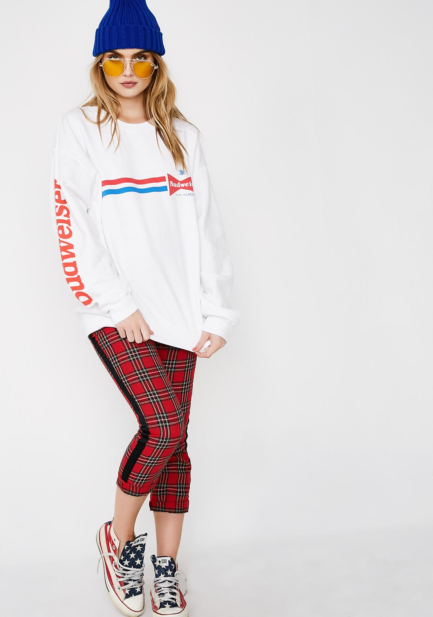 Junk Food Clothing Budweiser Stripes Sweatshirt