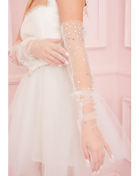 Stardust Sheer Tulle Gloves