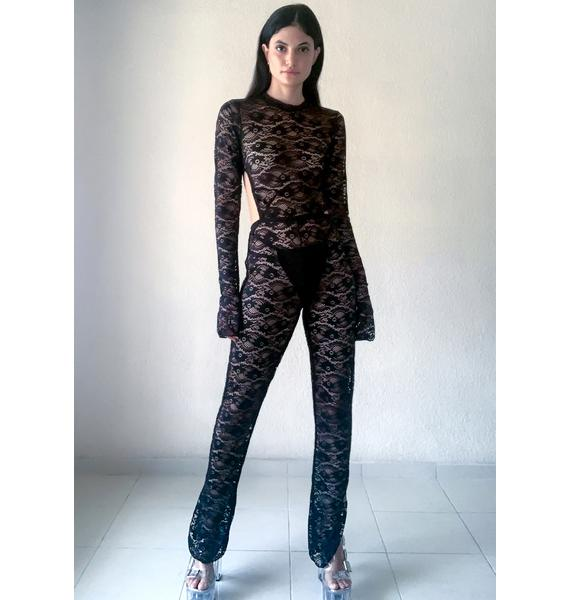 Poster Grl Go To Town Lace Catsuit