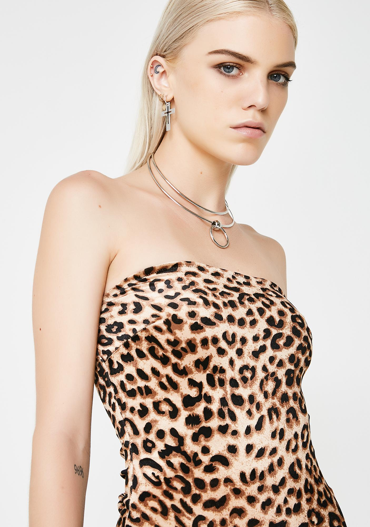 Feisty Feline Velvet Bodysuit