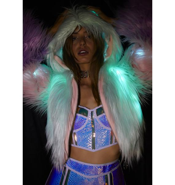 Club Exx Fairy Creamsicle Light Up Jacket