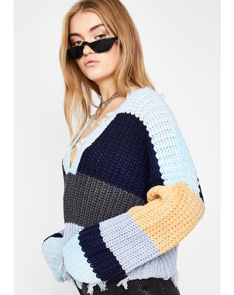Dissed N' Dismissed Knit Sweater