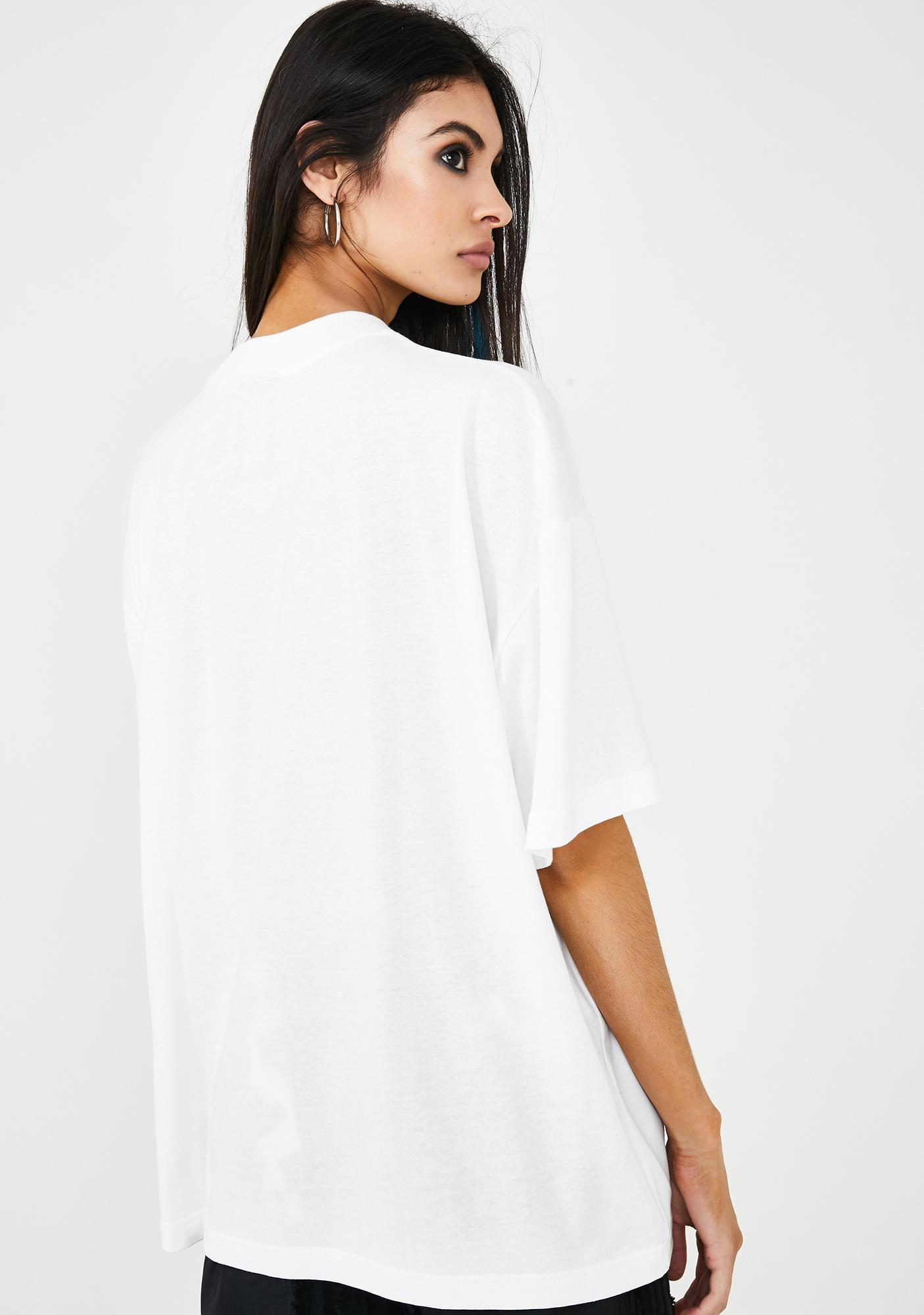 Somewhere Nowhere Embroidered Logo Oversize T-Shirt