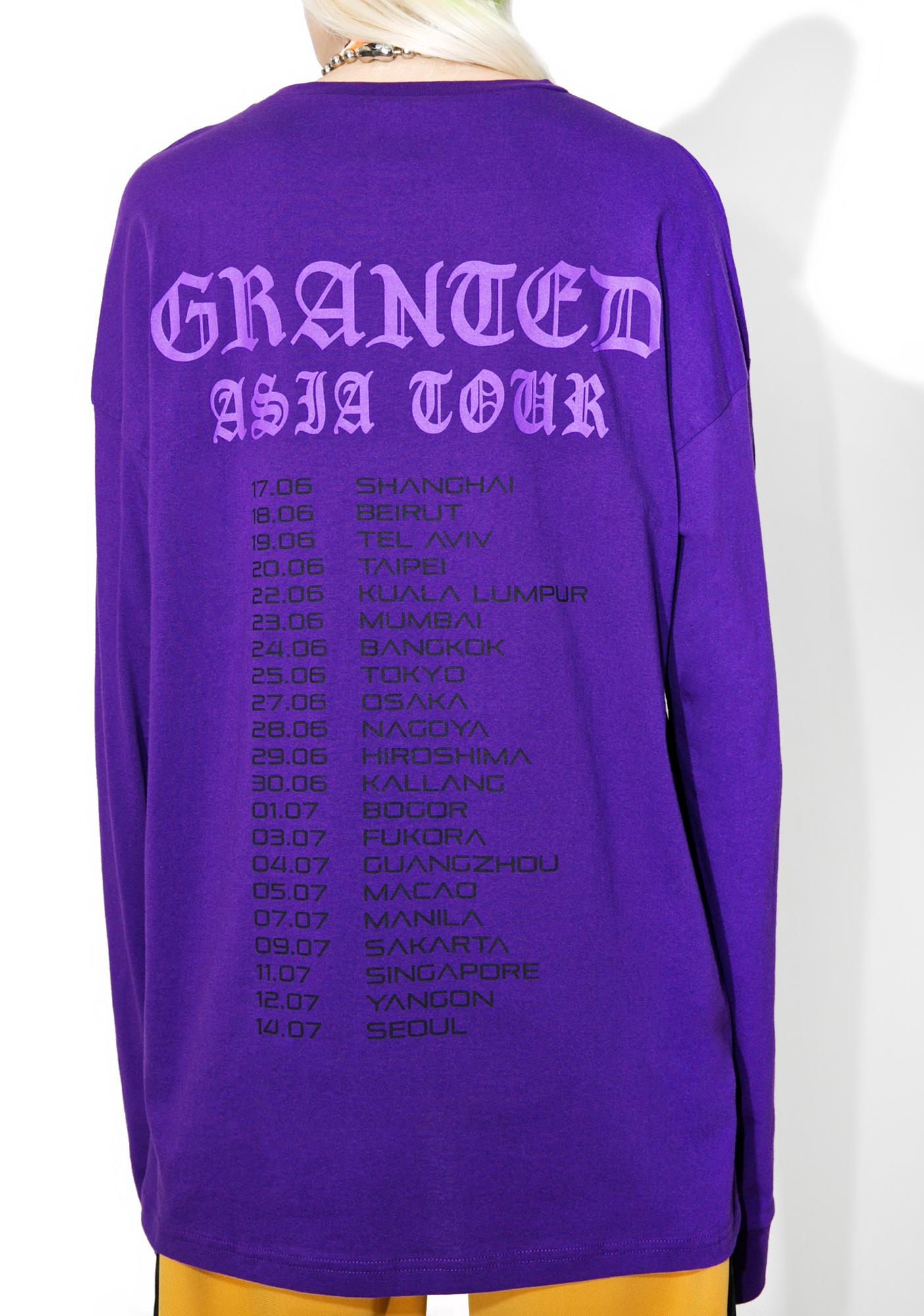 Jaded x Granted Tour Merch Long Sleeve Tee