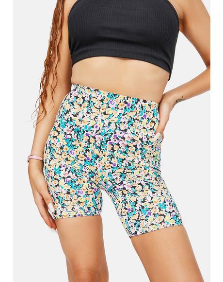 Lawson Floral Biker Shorts