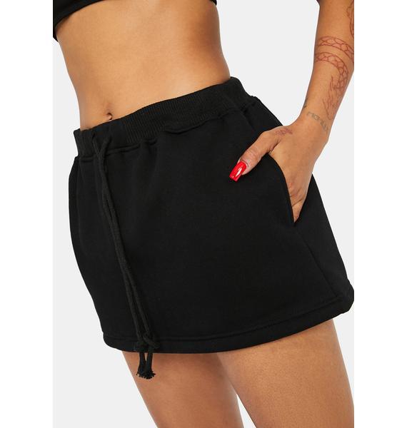 Noir True Confessions Sweat Skirt