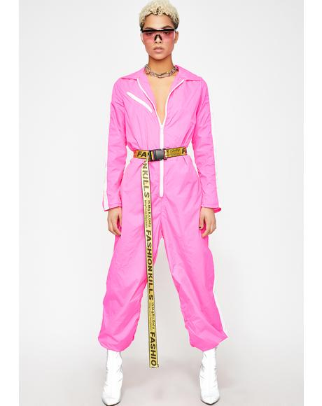 Cosmic Radiation Belted Jumpsuit